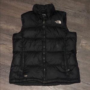 Woman's black North Face Vest